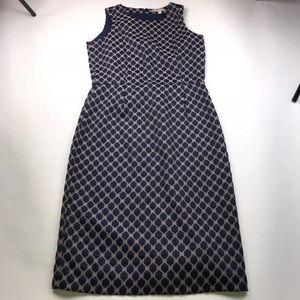 Banana Republic Blue & Gray Geometric Print Dress